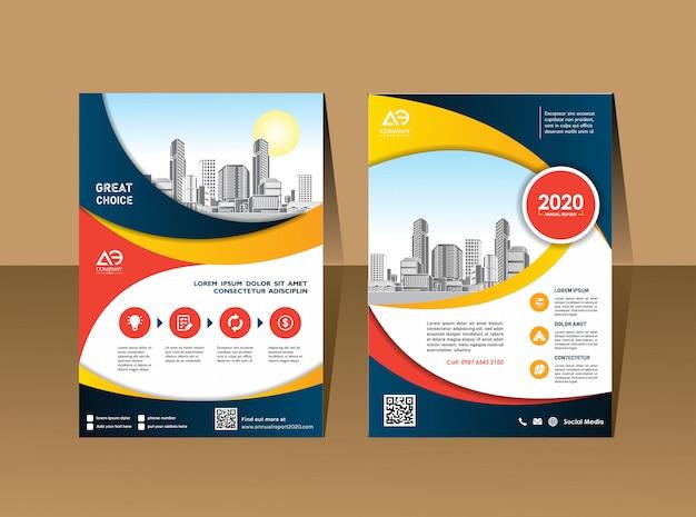 Mise en page de la brochure d'affaires Vecteur Premium