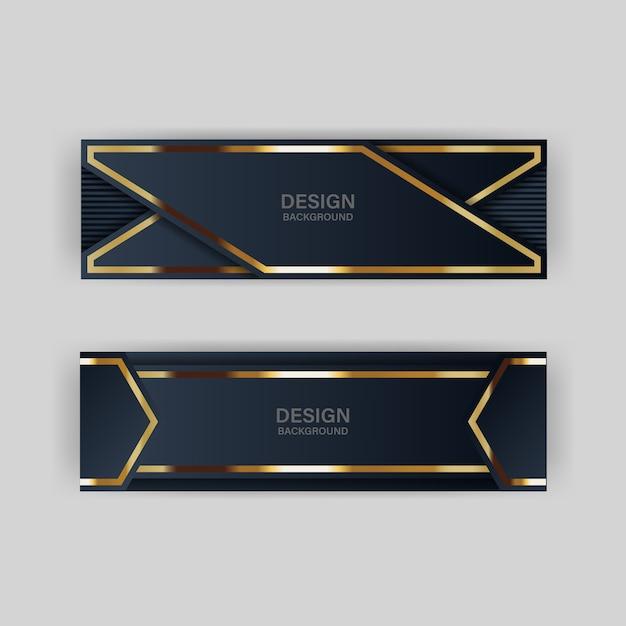 Mise en page de fond papercut des en-têtes et bannière Vecteur Premium