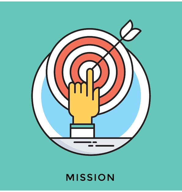 Mission plate vector icon Vecteur Premium