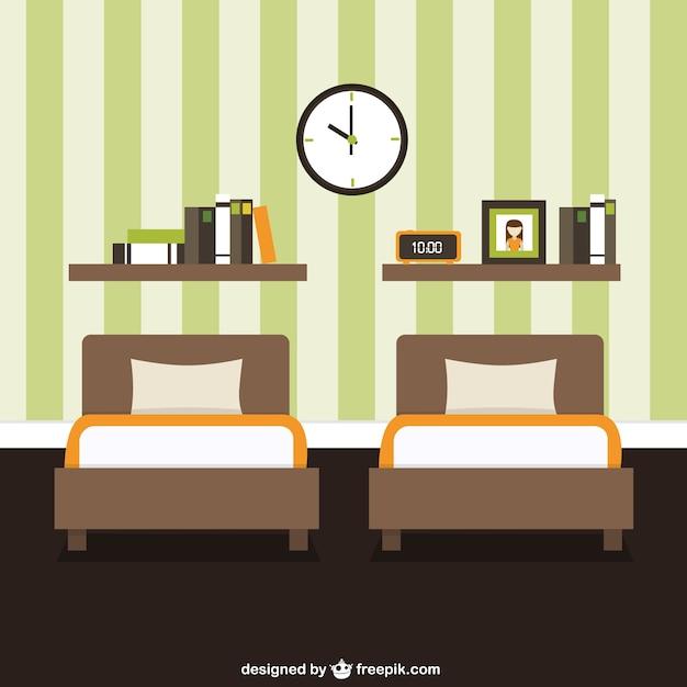 Mobilier de chambre décoration  Télécharger des Vecteurs