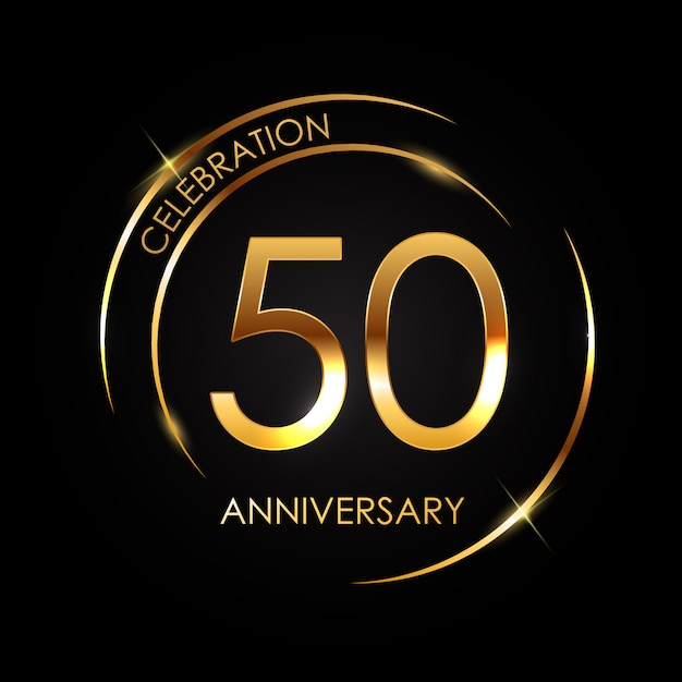 Modèle 50 ans d'anniversaire Vecteur Premium