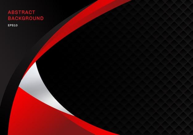 Modèle Abstrait Affaires Rouge Et Noir Vecteur Premium
