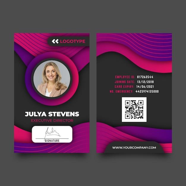 Modèle Abstrait De Cartes D'identité Avec Photo Vecteur gratuit
