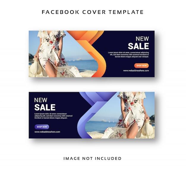 Modèle Abstrait De Couverture De Vente Bannière De Facebook Vecteur Premium