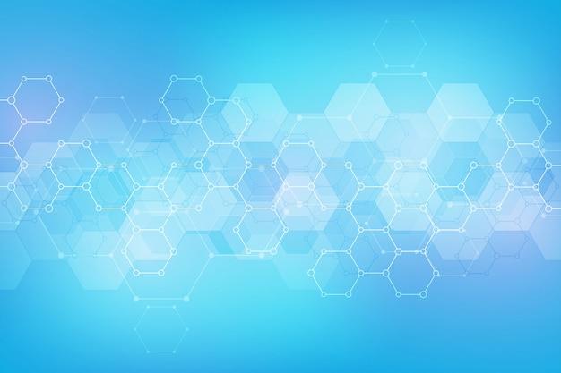 Modèle Abstrait Hexagones Vecteur Premium