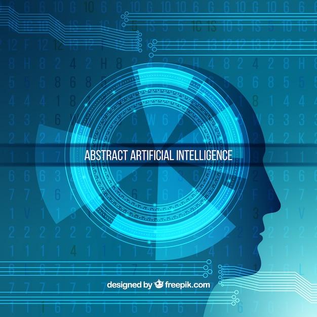 Modèle abstrait d'intelligence artificielle Vecteur gratuit