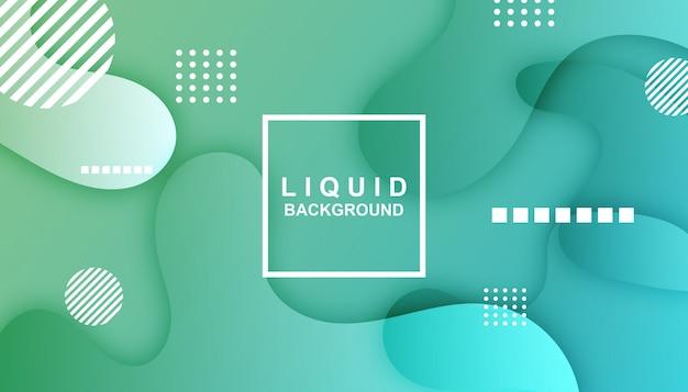 Modèle abstrait liquide Vecteur Premium