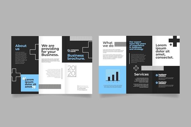 Modèle Abstrait Pour Brochure à Trois Volets Vecteur gratuit