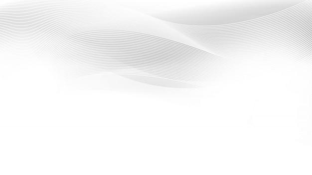 Modèle abstrait de vagues et de lignes blanches grises. Vecteur Premium
