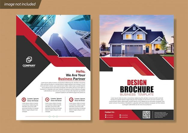 Modèle d'affaire de la brochure et de la couverture pour le rapport annuel Vecteur Premium