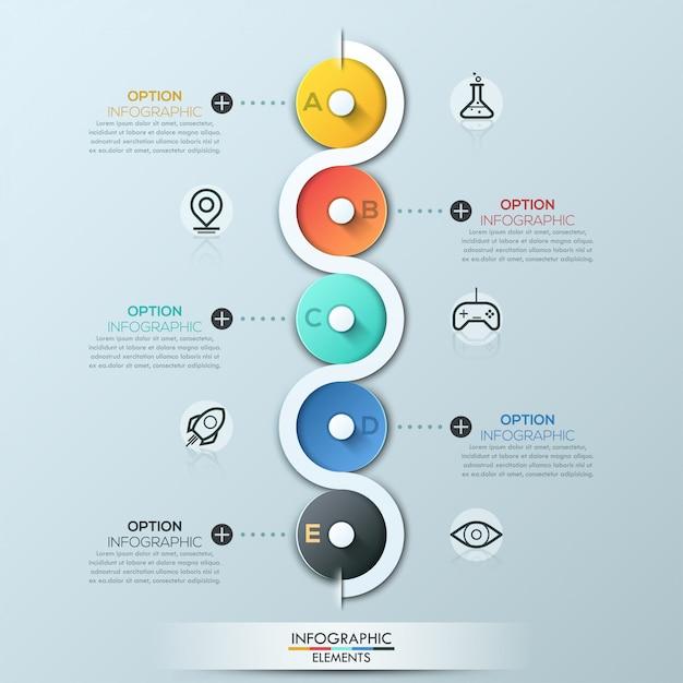 Modèle d'affaires de cercle moderne Vecteur Premium