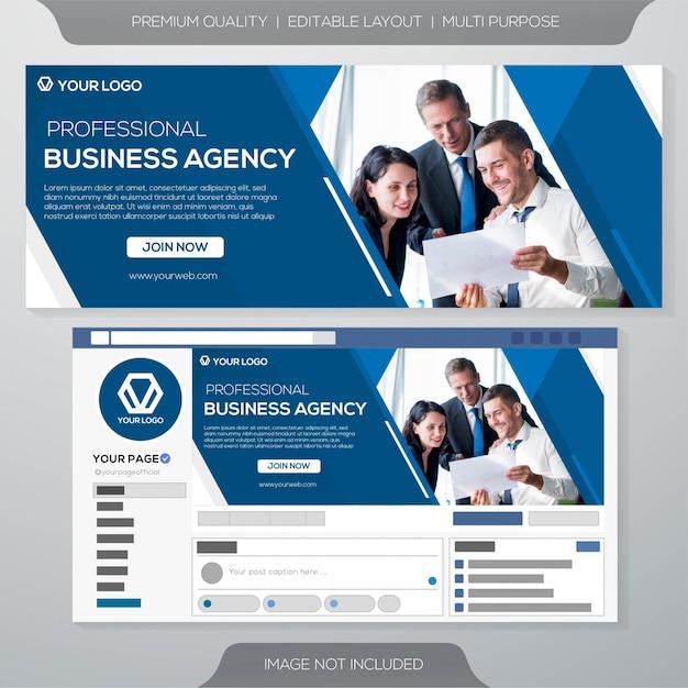 Modèle d'affaires de couverture de médias sociaux Vecteur Premium