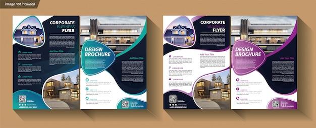 Modèle D'affaires Flyer Pour Couverture Brochure Corporative Vecteur Premium