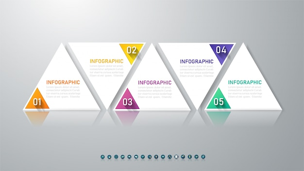 Modèle d'affaires infographique Vecteur Premium