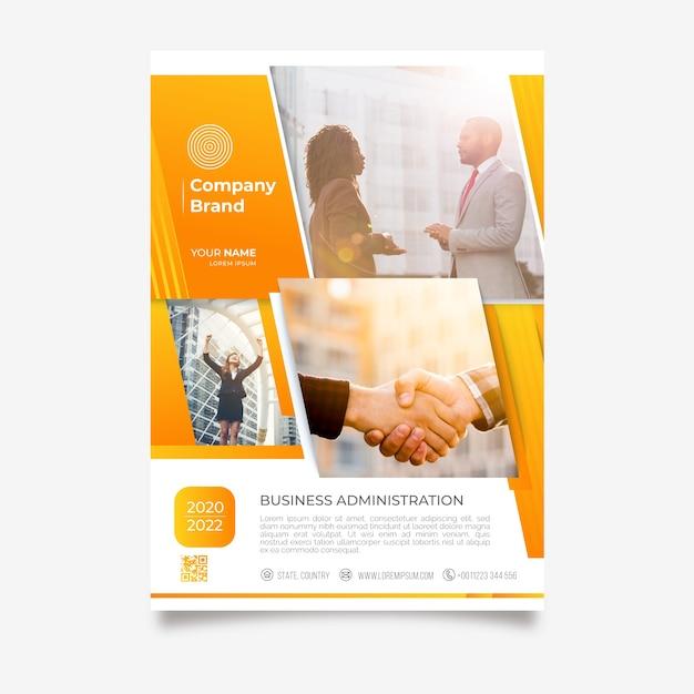 Modèle d'affiche abstrait business Vecteur gratuit