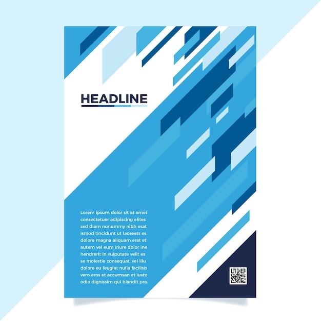 Modèle D'affiche Bleu Classique Abstrait Vecteur gratuit