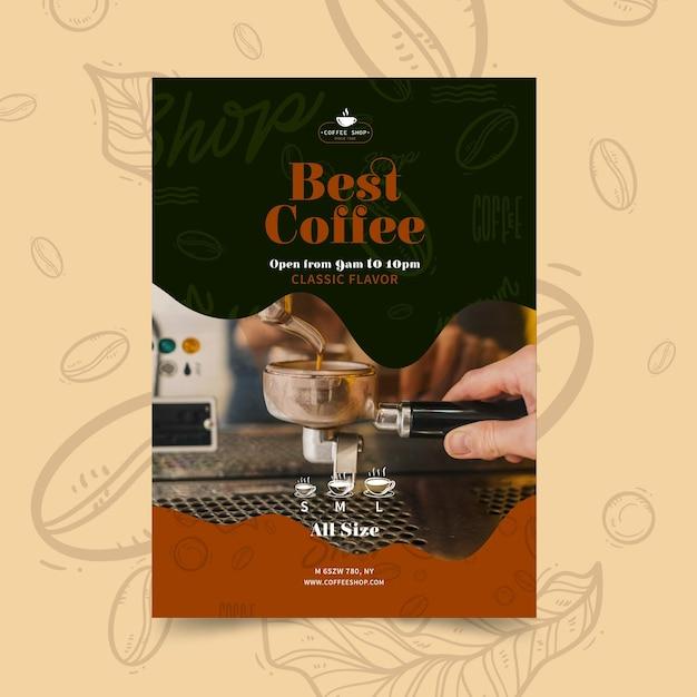 Modèle D'affiche De Café Vecteur gratuit
