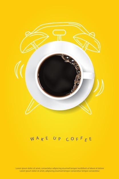 Modèle d'affiche café Vecteur Premium