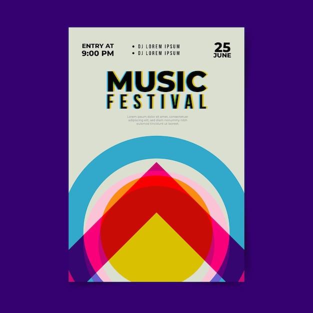 Modèle D'affiche De Conception De Festival Vecteur gratuit