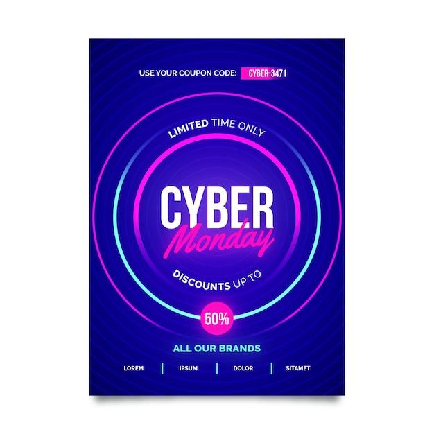Modèle D'affiche Créatif Cyber Lundi Vecteur gratuit