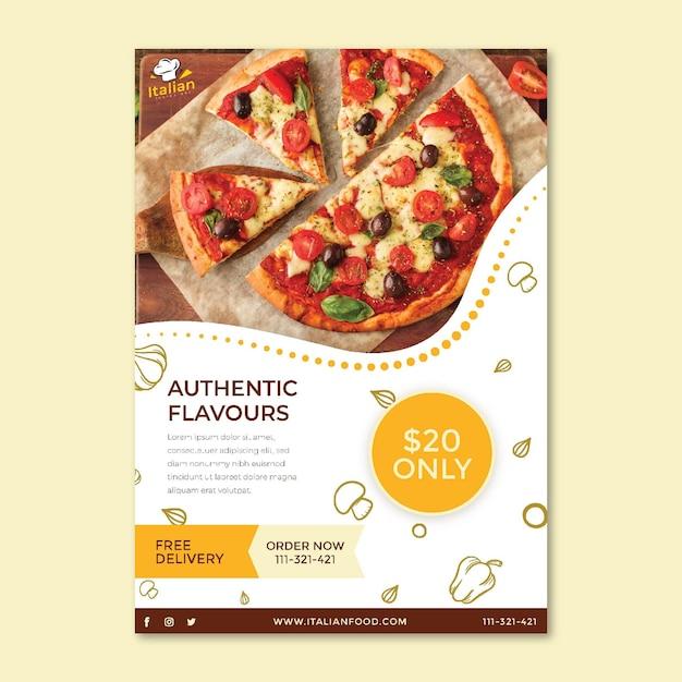 Modèle D'affiche De Cuisine Italienne Vecteur Premium