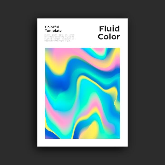 Modèle D'affiche Avec Effet Fluide Vecteur gratuit