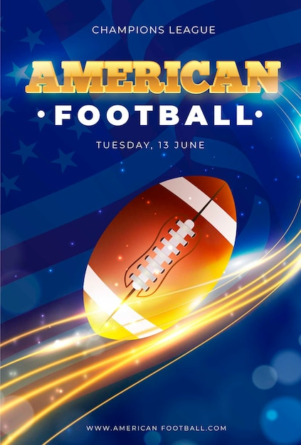 Modèle D'affiche D'événement De Football Américain Vecteur gratuit