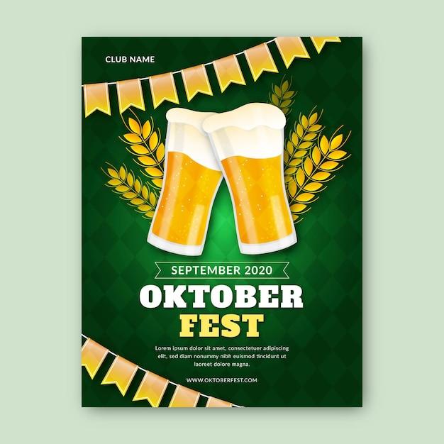 Modèle D'affiche D'événement Oktoberfest Réaliste Vecteur gratuit