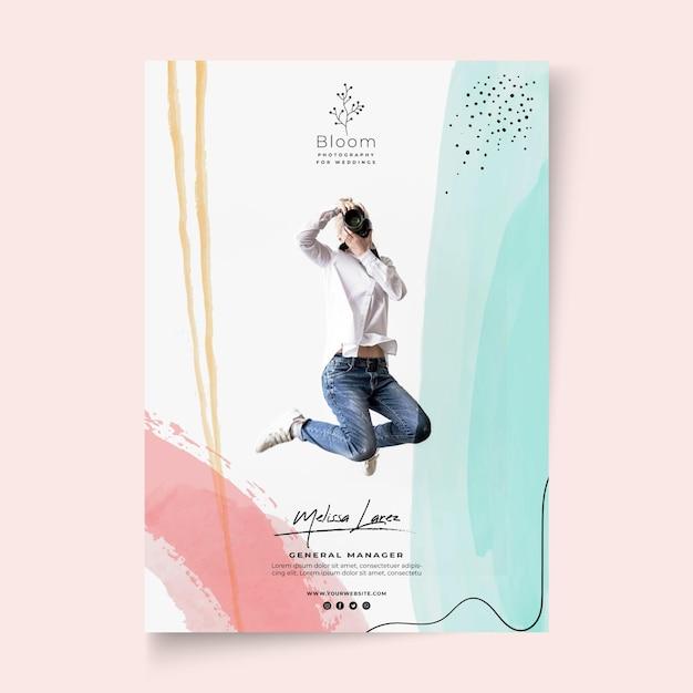 Modèle D'affiche De Femme D'affaires Vecteur gratuit
