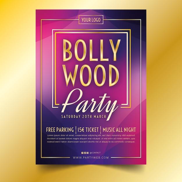 Modèle D'affiche De Fête De Bollywood Vecteur gratuit
