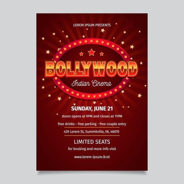Modèle D'affiche De Fête De Conception De Bollywood Vecteur gratuit