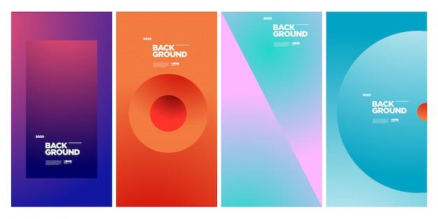 Modèle D'affiche Géométrique Coloré Abstrait Branché Vecteur Premium
