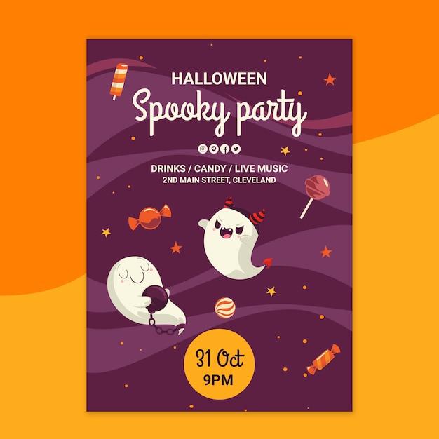 Modèle D'affiche Halloween Vecteur gratuit