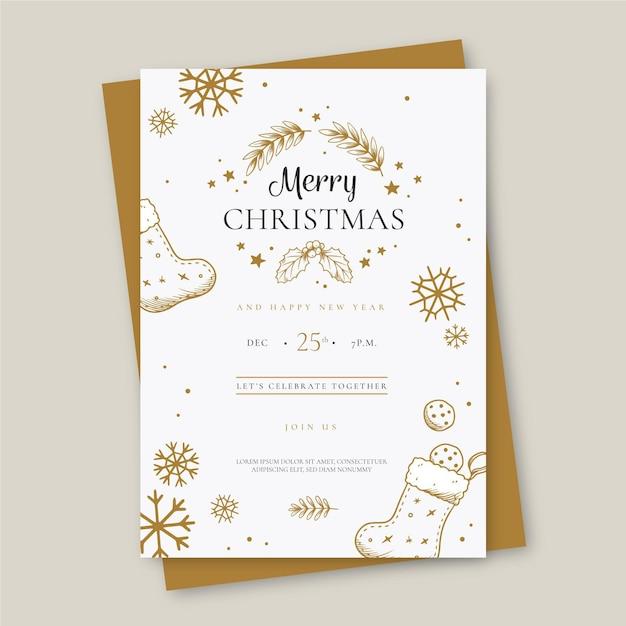 Modèle D'affiche Joyeux Noël Vecteur gratuit