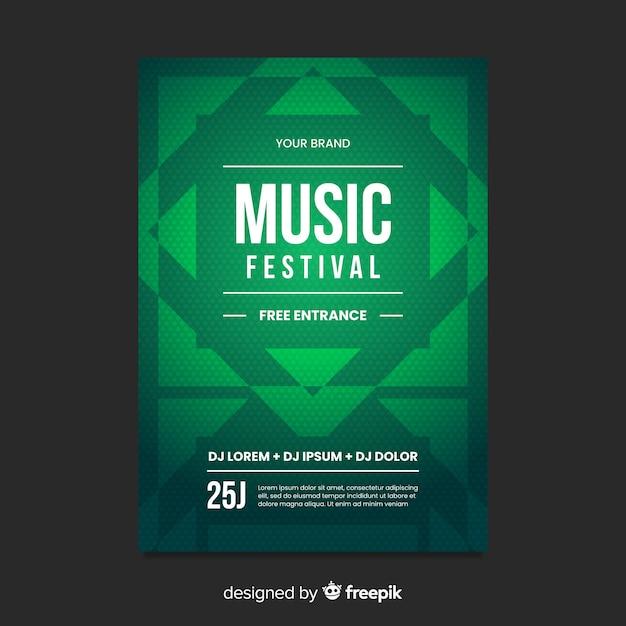 Modèle D'affiche De Musique De Forme Géométrique Vecteur gratuit