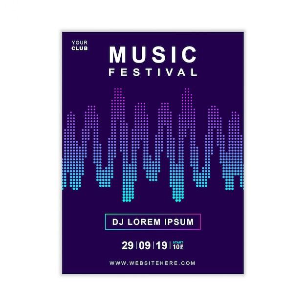 Modèle d'affiche de musique Vecteur Premium