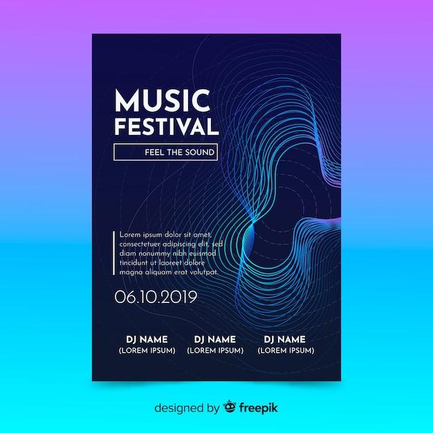 Modèle d'affiche de musique Vecteur gratuit