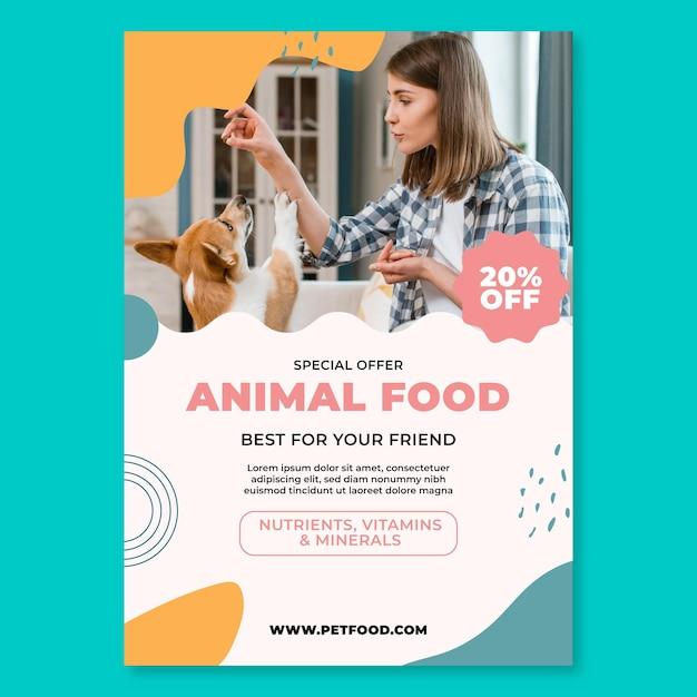 Modèle D'affiche De Nourriture Animale Vecteur gratuit