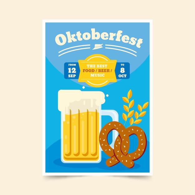 Modèle D'affiche Oktoberfest Vecteur gratuit