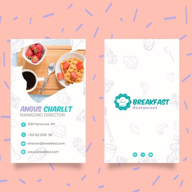 Modèle D'affiche De Petit Déjeuner Savoureux Vecteur gratuit