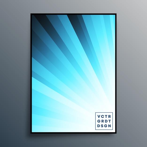 Modèle D'affiche Avec Des Rayons Dégradés Bleus Pour Le Fond, Le Papier Peint, Le Dépliant, L'affiche, La Couverture De Brochure, La Typographie Ou D'autres Produits D'impression. Illustration Vecteur Premium