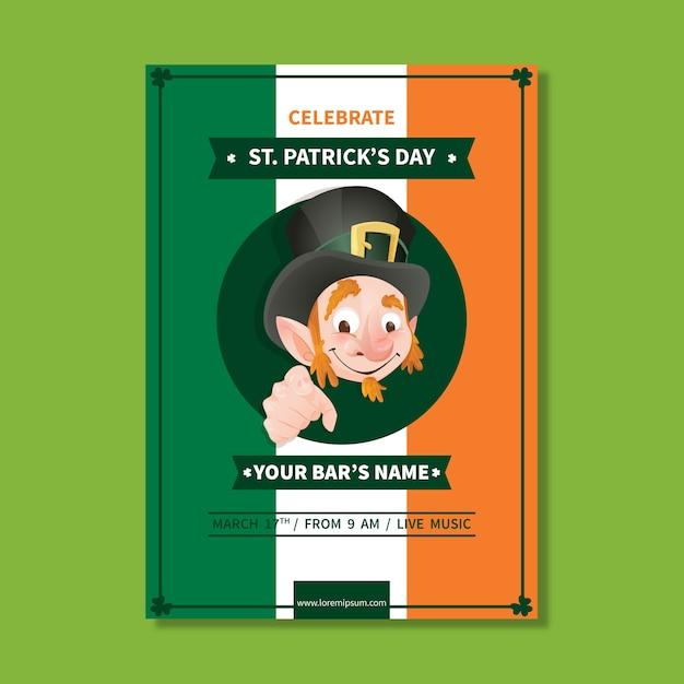 Modèle D'affiche De La Saint-patrick Dessiné à La Main Vecteur gratuit