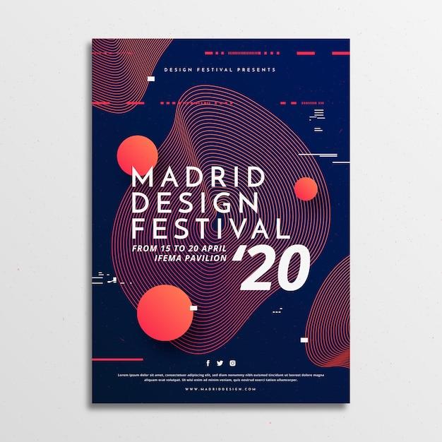 Modèle D'affiche De Style Festival Vecteur gratuit