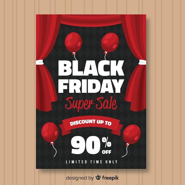 Modèle d'affiche de vente vendredi noir Vecteur gratuit