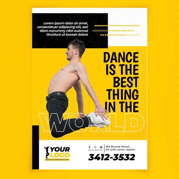 Modèle D'affiche Verticale De Danse Vecteur gratuit