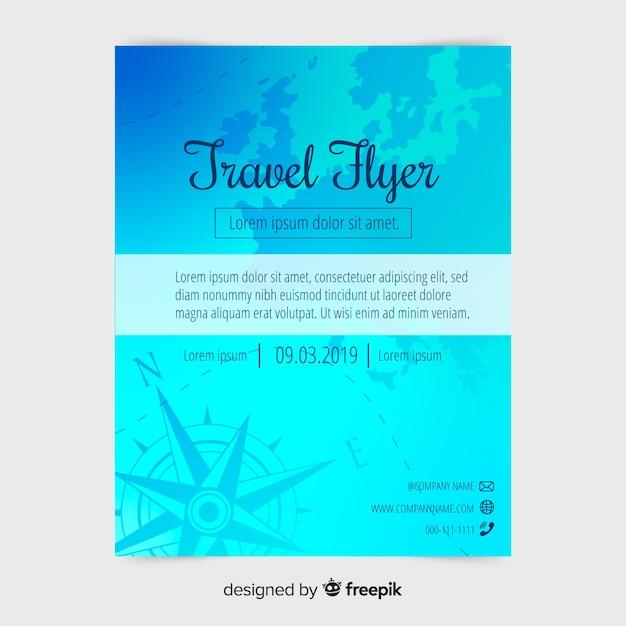 Modèle d'affiche de voyage plat Vecteur gratuit