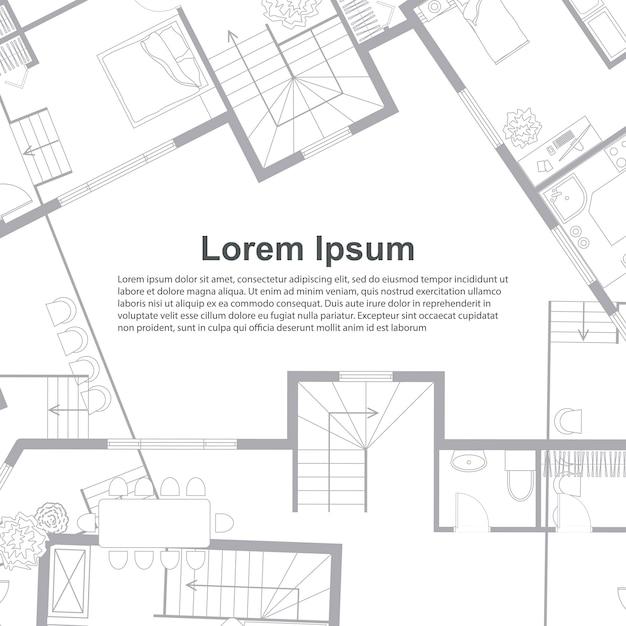 Modèle D'arrière-plan Architectural. Vecteur Premium