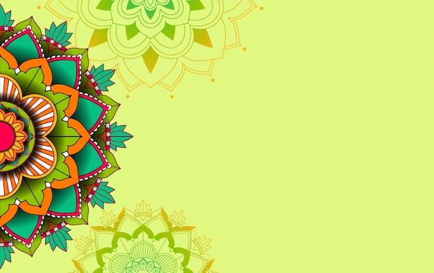 Modèle D'arrière-plan Avec Conception De Modèle De Mandala Vecteur gratuit