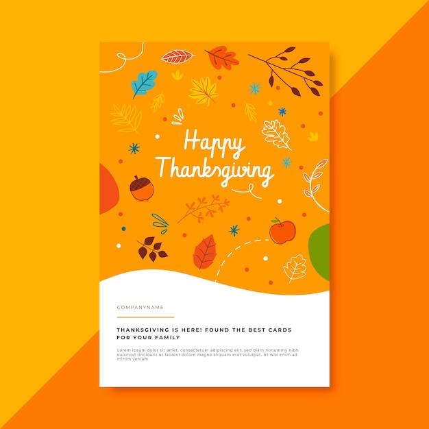 Modèle D'article De Blog De Thanksgiving Avec Salutation Vecteur gratuit