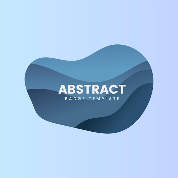 Modèle de badge abstrait en bleu Vecteur gratuit
